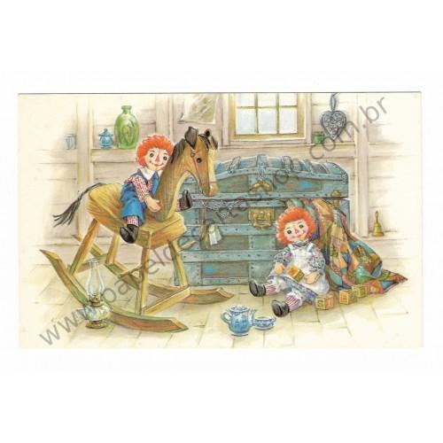 Postcard Importado Raggedy Ann & Andy