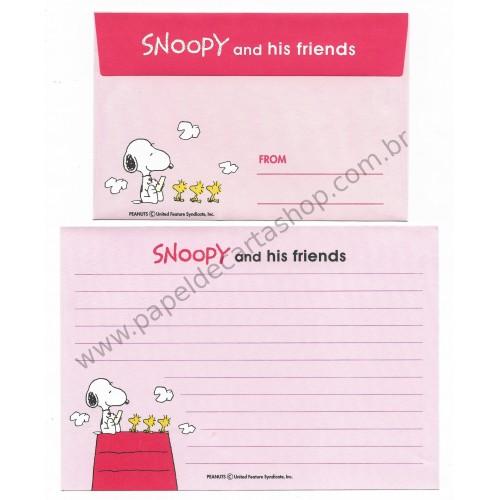 Conjunto de Papel de Carta Antigo (Vintage) Snoopy and his Friends CRS - Japan