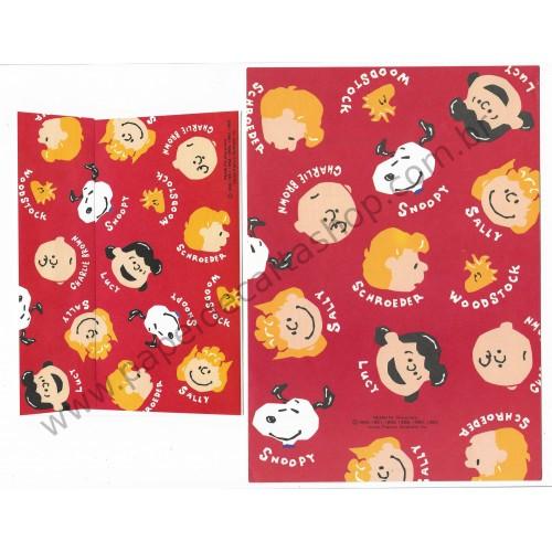 Conjunto de Papel de Carta Antigo (Vintage) Peanuts Characters CVM - Peanuts Hallmark Japan