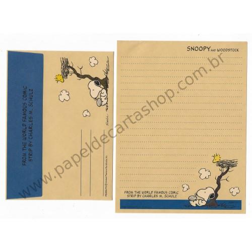 Conjunto de Papel de Carta SNOOPY CRAZ Antigo (Vintage) Peanuts