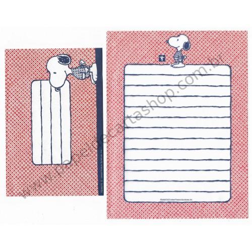 Conjunto de Papel de Carta Snoopy Kimono CVM Antigo (Vintage) Peanuts