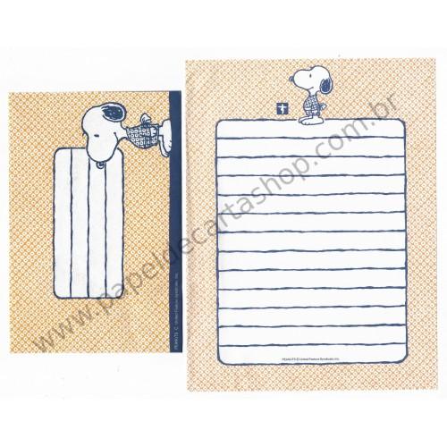 Conjunto de Papel de Carta Snoopy Kimono CLA Antigo (Vintage) Peanuts