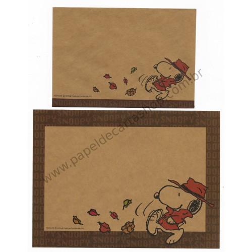 Conjunto de Papel de Carta Snoopy Craft FL Antigo (Vintage) Peanuts