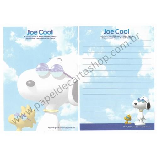 Kit 4 Papéis de Carta Joe Cool BLU Antigo (Vintage) Peanuts