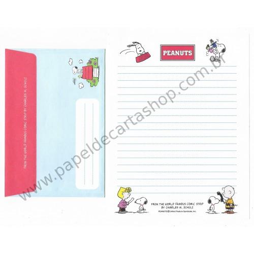 Conjunto de Papel de Carta Peanuts All Antigo (Vintage) Hallmark
