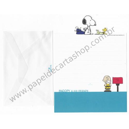 Conjunto de Papel de Carta Snoopy & HF Cores CAZ Antigo (Vintage) Hallmark