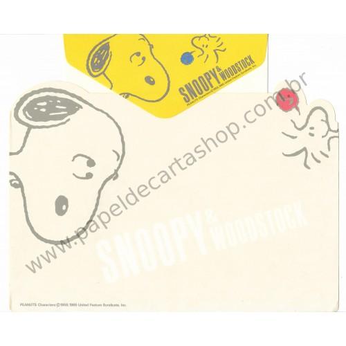 Conjunto de Papel de Carta Snoopy & Wood AM Vintage Hallmark Japan
