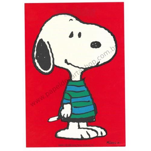 Conjunto de Papel de Carta Snoopy Red Vintage Hallmark Japan