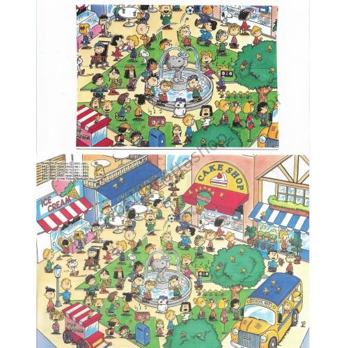 Conjunto de Papel de Carta Peanuts Cake Shop Vintage Hallmark Japan