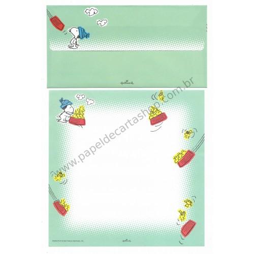 Conjunto de Papel de Carta Antigo (VIntage) Snoopy & Wood CVD