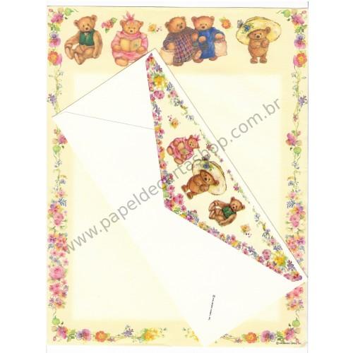 Conjunto de Papel de Carta Importado Mary Hamilton BEAR A4 - Hallmark