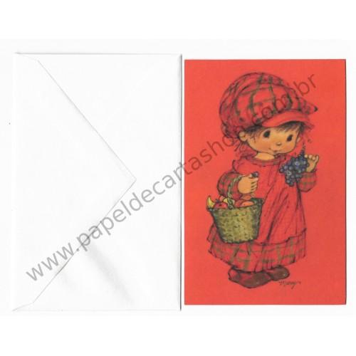 Notecard Antigo Importado Mary Hamilton 01 CVM - Hallmark
