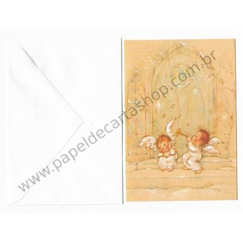 Cartão Antigo Importado Mary Hamilton 01 CVM - Hallmark