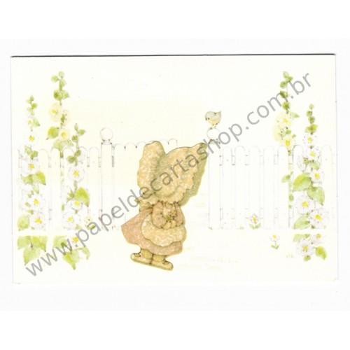 Postalete Antigo Importado Sun Bonnet Garden - Hallmark