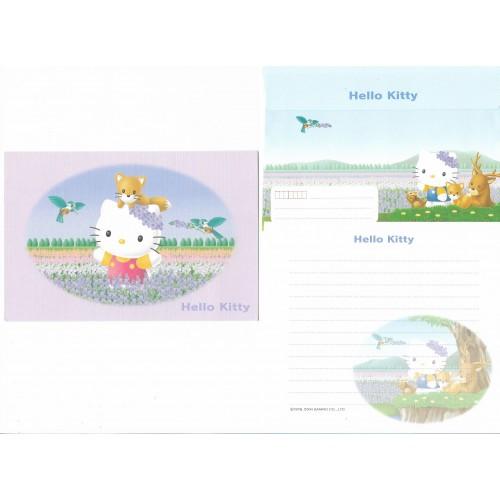 Ano 2004. Conjunto de Papel de Carta Hello Kitty Regional CLL Sanrio