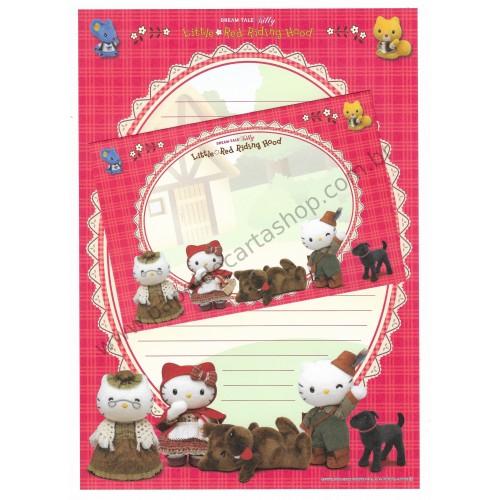 Ano 2004. Coleção DREAM TALE Kitty Little Red Riding Hood - Sanrio