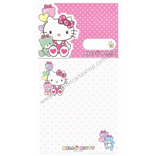 Ano 2013. Conjunto de Papel de Carta Hello Kitty ROSA Sanrio