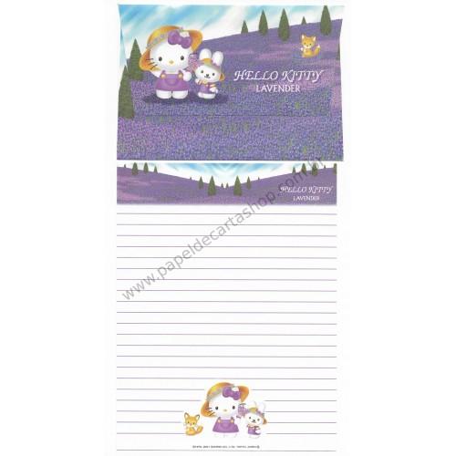 Ano 2001. Conjunto de Papel de Carta Gotōchi Kitty Lavender Sanrio