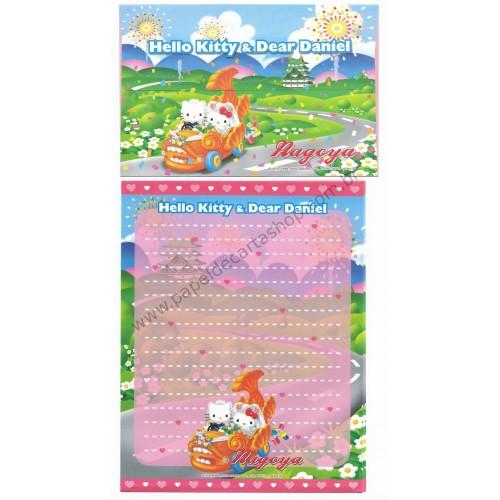 Ano 2003. Conjunto de Papel de Carta Gotōchi Kitty Nagoya Sanrio