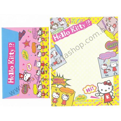 Ano 2002. Conjunto de Papel de Carta Hello Kitty Hi! Sanrio