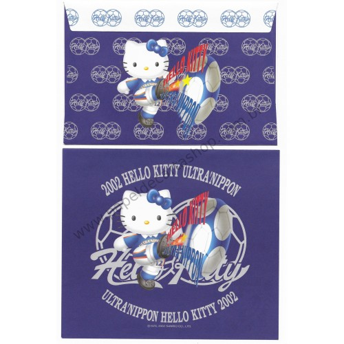 Ano 2002. Conjunto de Papel de Carta Hello Kitty Ultranippon Sanrio