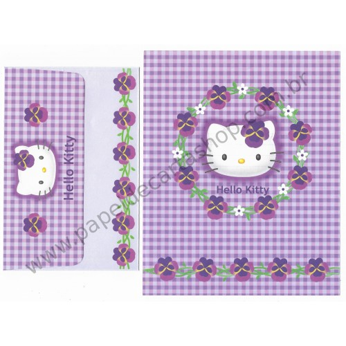 Ano 2000. Conjunto de Papel de Carta Hello Kitty CLL Sanrio