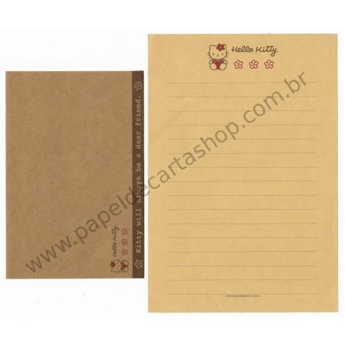 Ano 1998. Conjunto de Papel de Carta Hello Kitty CRA (Vintage) Sanrio