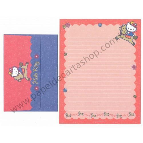 Ano 2003. Conjunto de Papel de Carta Hello Kitty EUA CVM Sanrio