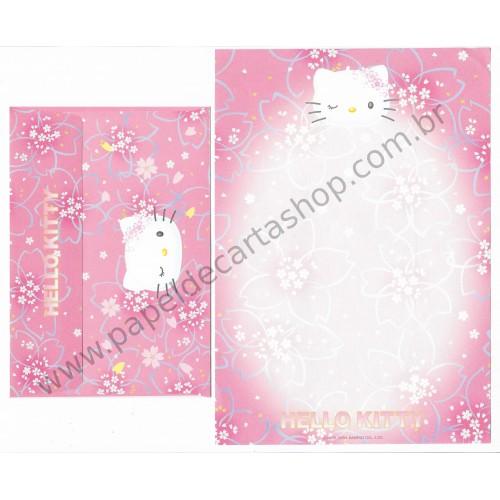 Ano 2004. Conjunto de Papel de Carta Hello Kitty Best Collection 17 Sanrio