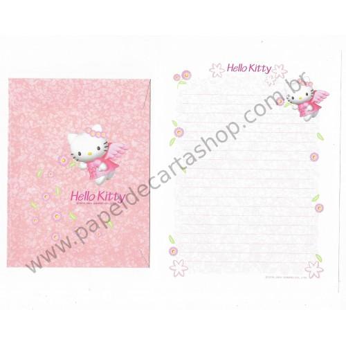 Ano 2001. Conjunto de Papel de Carta Hello Kitty Angel CBR Sanrio