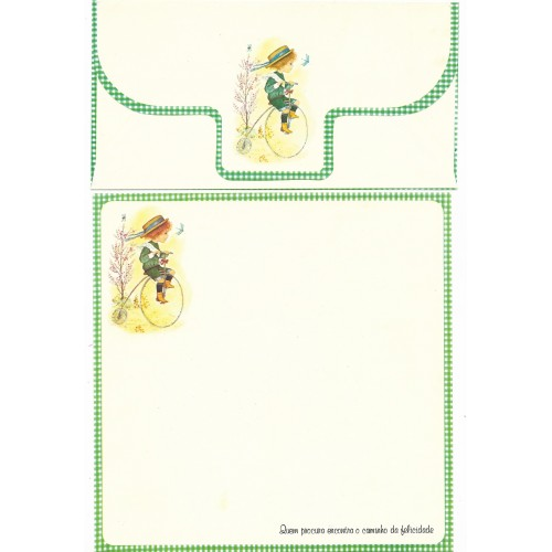 Conjunto de Papel de Carta Coleção July Pop - CVD