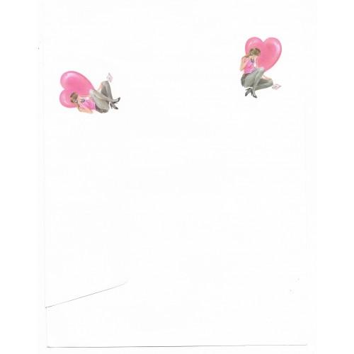 Conjunto de Papel de Carta Antigo Coleção Kartos - Apaixonada