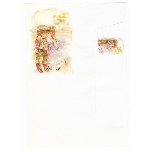 Conjunto de Papel de Carta Antigo Coleção Doçura 01G