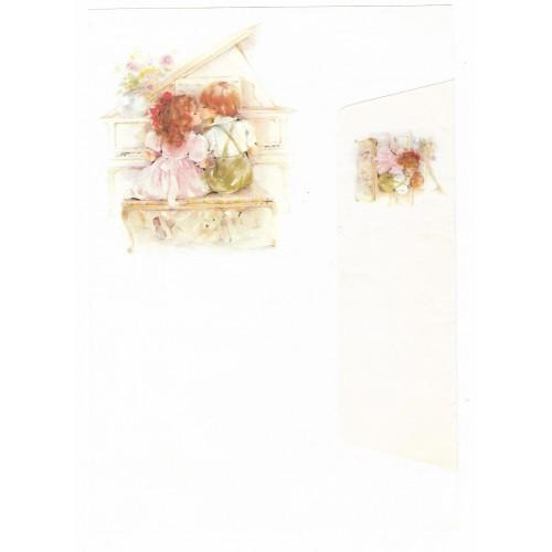 Conjunto de Papel de Carta Antigo Coleção Doçura 02G