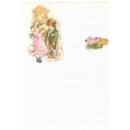 Conjunto de Papel de Carta Antigo Coleção Doçura 06G