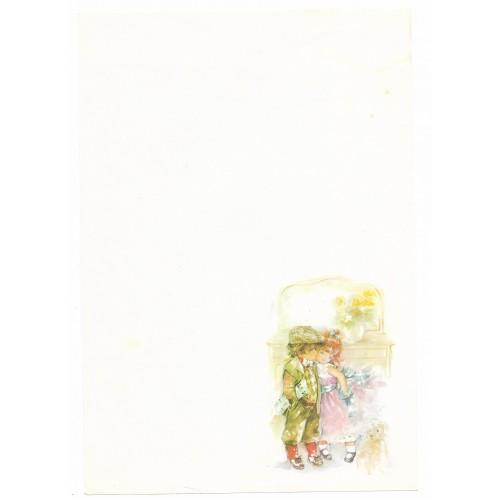Papel de Carta Antigo Coleção Doçura 01M