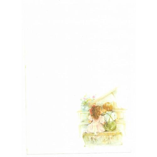 Papel de Carta Antigo Coleção Doçura 02M