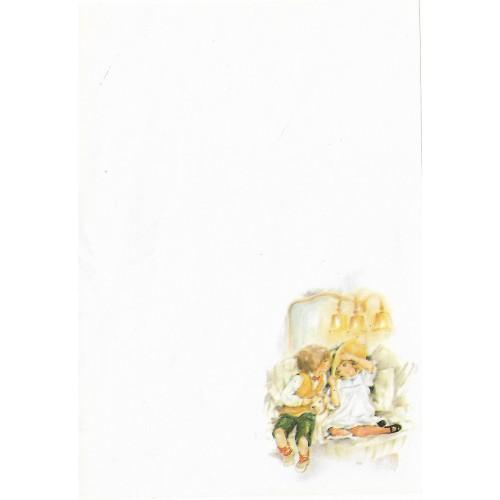 Papel de Carta Antigo Coleção Doçura 03 MINI