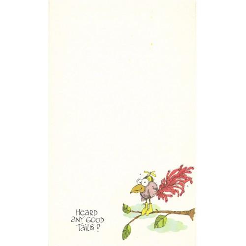 Coleção de Papel de Carta Antiga Importada Birdie Notes