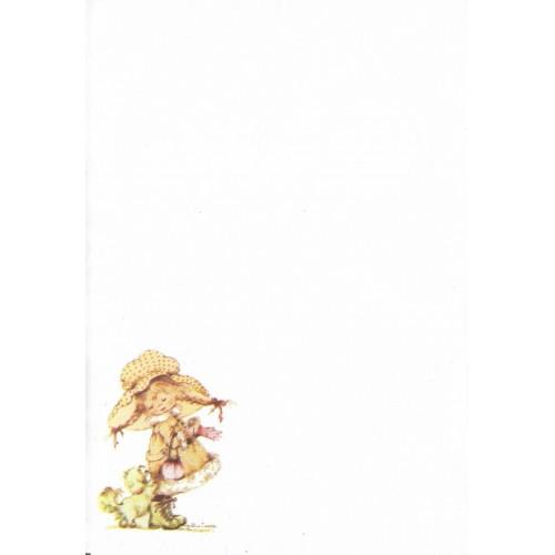 Papel de Carta Antigo SPACK Menininhas 47 Kim Tania