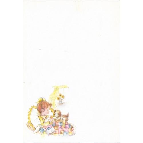 Papel de Carta Antigo SPACK Menininhas 57 Eva Harta