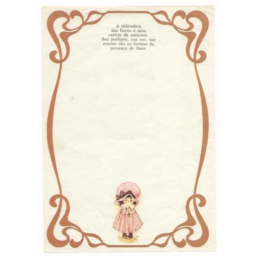 Papel de Carta Antigo Menininhas 81