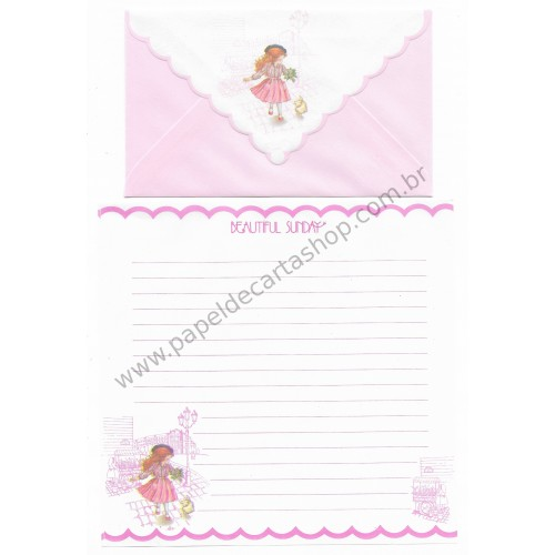 Conjunto de Papel de Carta Beautiful Sunday 01 CRS