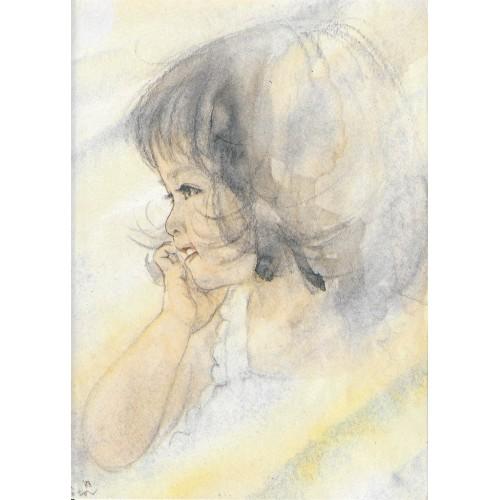 Anos 80. Papel de Carta Antigo Menininhas 89