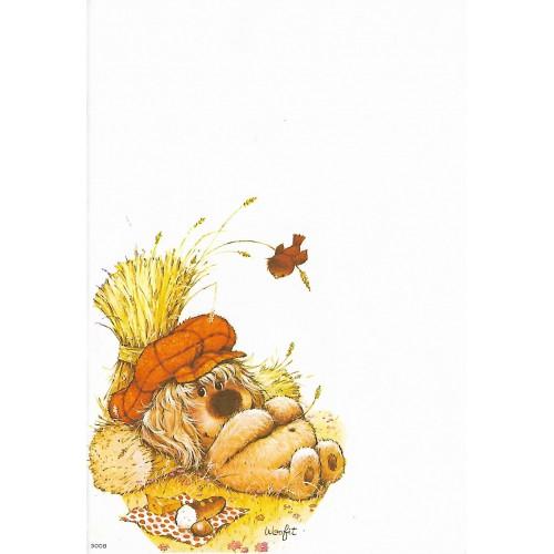 Papel de Carta Antigo Coleção Woofit Fofinhos 3008