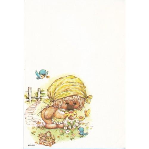 Papel de Carta Antigo Coleção Woofit Fofinhos 205/003