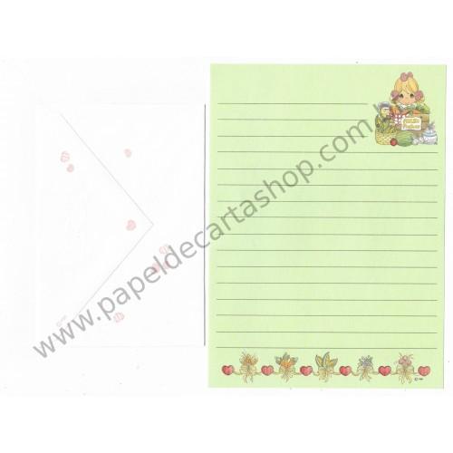 Conjunto de Papel de Carta IMPORTADO Precious Moments Fresh Products