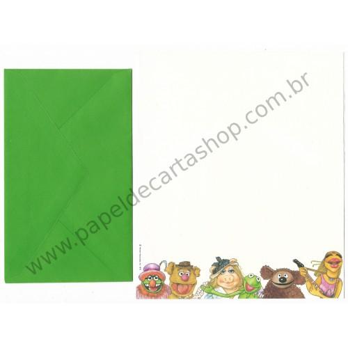 Conjunto de Papel de Carta Antigo Importado Muppets CVD - Hallmark
