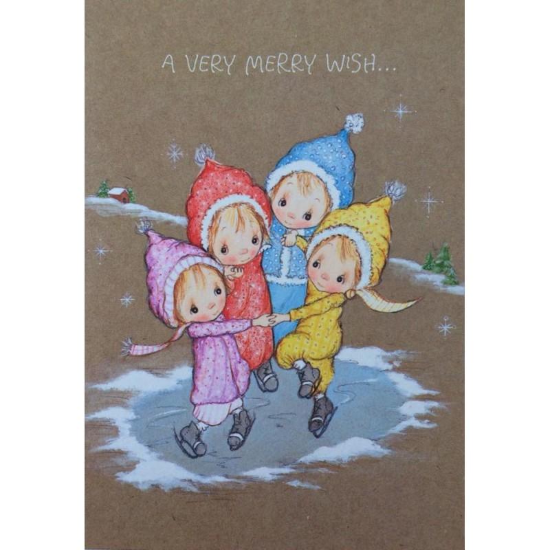 Ano 1981. Cartão ANTIGO IMPORTADO Betsey Clark Merry Wish Hallmark