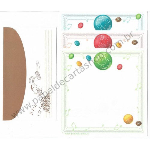 Conjunto de Papel de Carta Antigo (VIntage) Linus Happy Day CVD TRIO
